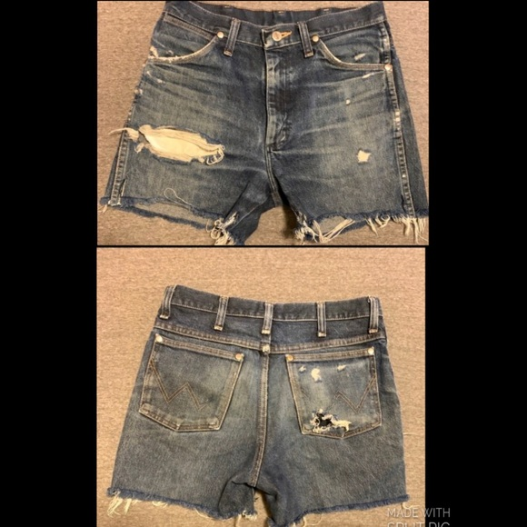 Wrangler Pants - Wrangler vintage high waist jean shorts 29